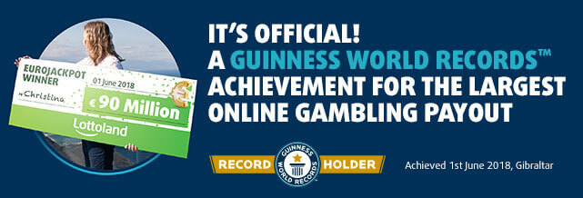 Lottoland's Guinness World Record for biggest online gambling payout